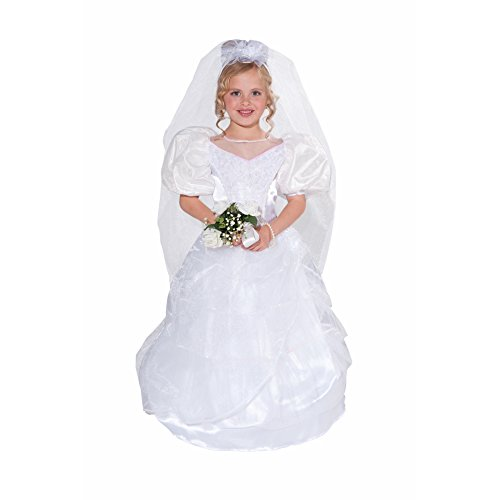 Halloween Costumes From Old Dance Costumes (Forum Novelties Designer Collection Deluxe Costume Wedding Dress and Veil, Toddler Size)