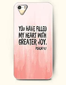 iPhone 4 4S Case OOFIT Phone Hard Case **NEW** Case with Design You Have Filled My Heart With Greater Jou Psalm 4:7- Bible Verses - Case for Apple iPhone 4/4s
