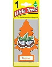 Little Trees U6P-60317 Aromatizante Pino de 6 Pack Aroma Coco, 4, Naranja Empaque de, 6 Empaque de