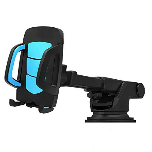 YL 車載電話ホルダー GPSアクセサリー 吸盤 自動車ダッシュボード フロントガラス 携帯電話 格納式マウントスタンド (赤、1個) B07GRZNZWN