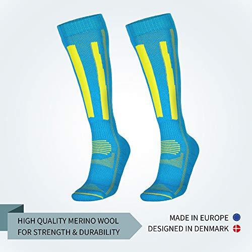 DANISH ENDURANCE Calcetines Térmicos de Esquí de Lana Merino, para Hombre, Mujer, niños, Senderismo: Amazon.es: Ropa y accesorios