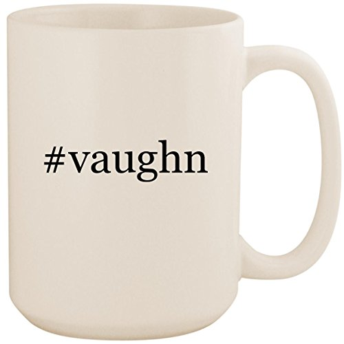 (#vaughn - White Hashtag 15oz Ceramic Coffee Mug Cup)
