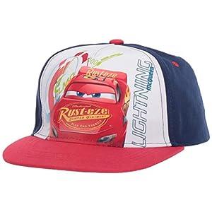 Disney Boys' Big Cars Lightning McQueen Speed Baseball Cap, Navy/Red, One Size