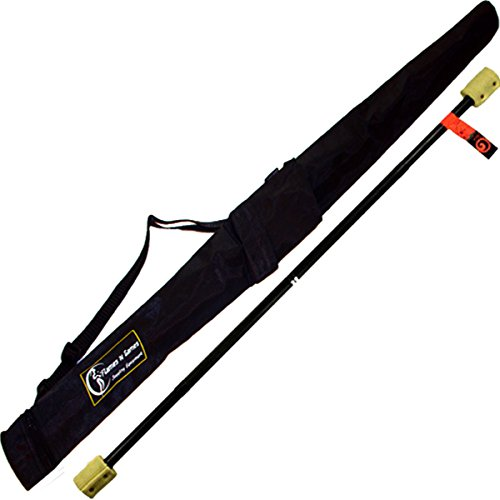 GORA Fire Juggling Staff – 0.9m – 2x 50mm Wicks + Travel Bag! Professional Fire Spinning Staff