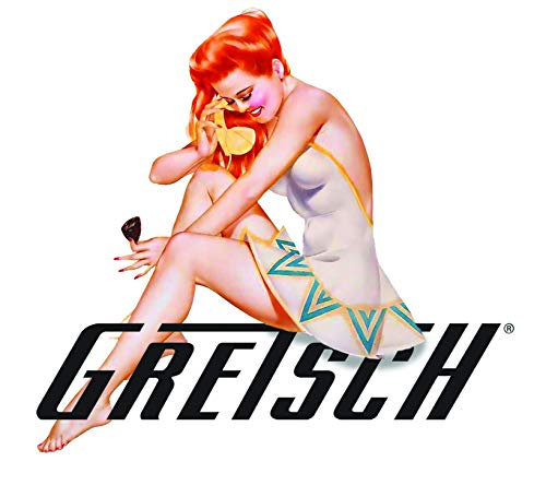 Gretsch Sticker Sexy Pinup Girl A002 Great for Guitar AMP Toolbox Sexy Pinup Girl Decals Laptop Mirror