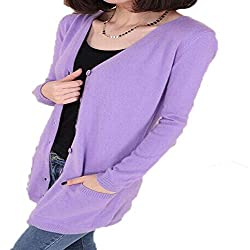 Wool Sweater Medium Long Cashmere Cardigan Women Loose Sweater Outerwear Coat With Pockets Xxx Large Lavender