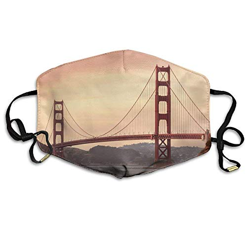 Golden Gate Bridge Tours San Francisco Printed Mouth Masks Unisex Anti-dust Masks Reusable Face Mask