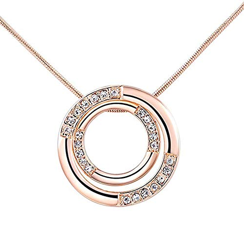 Cindero Pendant Necklace Plated for Women Girls