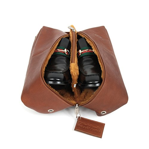 Fiorano Deluxe Leather Golf Shoe Bag by Corsa Miglia