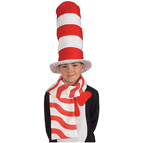 4 Person Team Costumes (Cat in the Hat Scarf Costume Accessory)