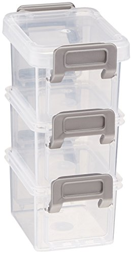 [IRIS 301633 3-Piece Layered Latch Box with Buckle Snaps, 5.41