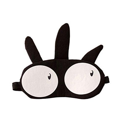 Armfer Eye Mask for Sleeping Cute Joyful Eye-Shade Blindfold Nap Eye Cover Travel Plane Head Band (Pink) (black) ()