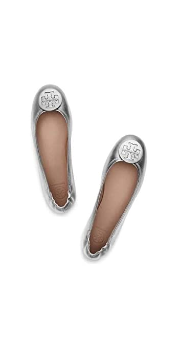 79e70dec178 Tory Burch Women's Nappa Grained Leather Minnie Travel Ballet Flat, ...