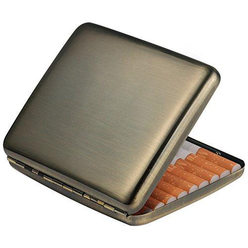 Vintage Brushed Bronze Metal Cigarette Case Box Wallet Credit Card Case as Gift for Men and Women(Brushed Bronze) Credit Card Cigarette Case Wallet