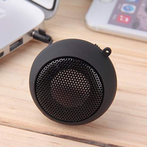 Appearancnes Conception Unique Protable Mini 3.5mm Jack Type Hambourg T/élescopique Plug-in Audio Haut-parleurs Mains Libres Filaire FM Radio USB Speker