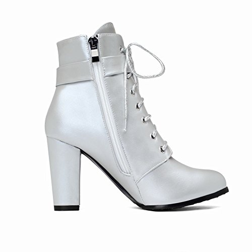 Mee Fashion Silver high Shoes Boots Lace Womens Ankle heel High up qqaTPHw