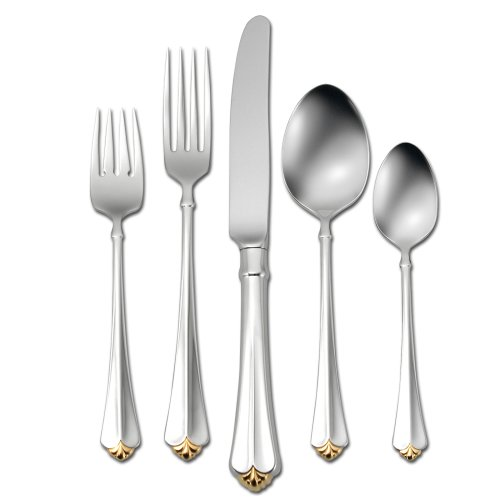 Dinner Knife Juilliard (Oneida Golden Juilliard 20-Piece Flatware Set, Service for 4)