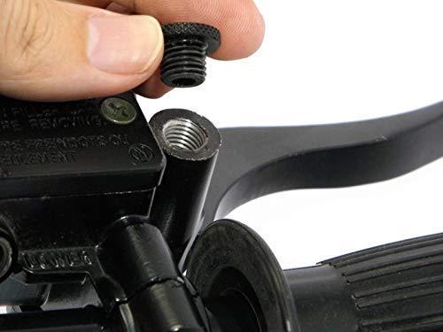 Bougies Clockwise Filetage Seulement Paire de Billet Aluminium M8 Filet/é Moto Scooter Miroir Obturation
