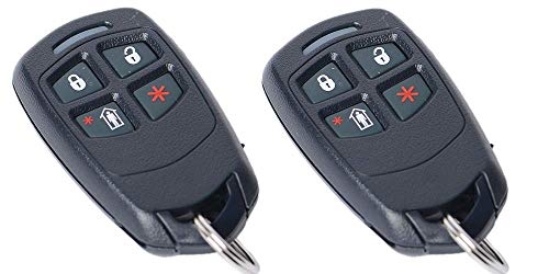 (2 Pack Honeywell 5834-4 Four Button Wireless Key)