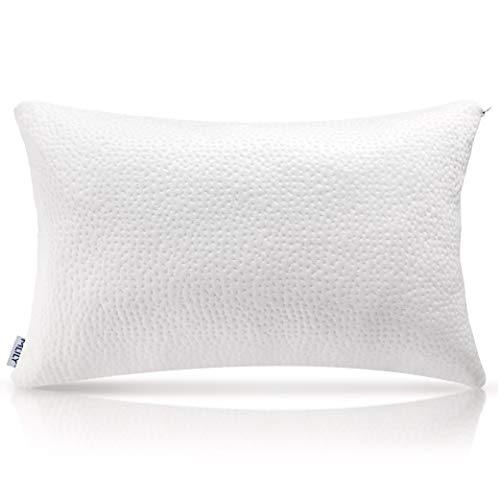 Milemont Shredded Memory Foam Pillow, Bed Pillows, Cooling Pillow for Side Back Sleepers with Washable Removable Cover, CertiPUR-US, Queen (Best Quality Pillows For Side Sleepers)