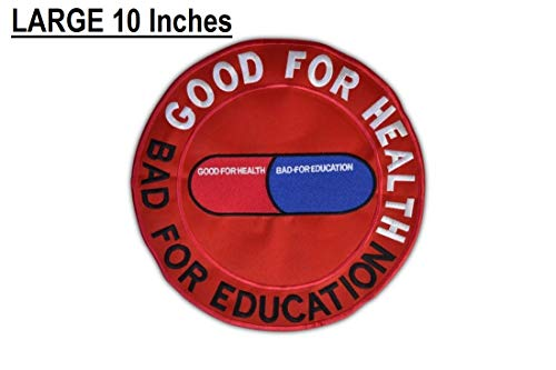 Akira Good for Health Bad for Education Emo Punk Patch LARGE 10 inches