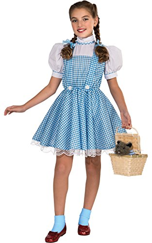 [Wizard of Oz Deluxe Dorothy Costume, Large] (Dorothy Kid Costumes)