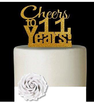 Cakesupplyshop Item 011cta 11th Birthday Anniversary Cheers