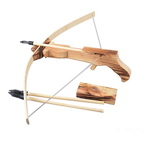 Justcreat Safe Wooden Model Toys Arrow+quiver Cross Bow Toy Gun Wooden Archery Crossbow Outdoor for Kid/ Children/ Youth (Toy Hunting Guns compare prices)