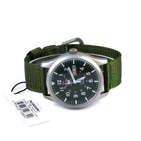Seiko-5-Mens-SNZG09K1-Sport-Analog-Automatic-Khaki-Green-Canvas-Watch