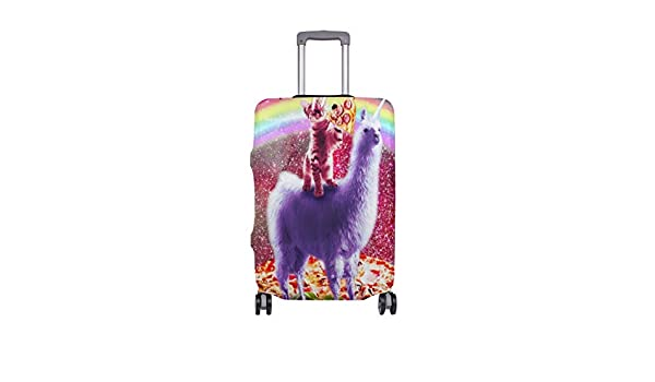 Suitcase Protector HLive Spandex Dust Proof Covers with Zipper Fits 18-32 inch Cool Llama Travel Luggage Cover