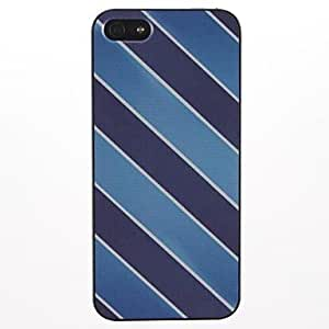 GJYInclined Stripe Pattern PC Hard Case for iPhone 5/5S