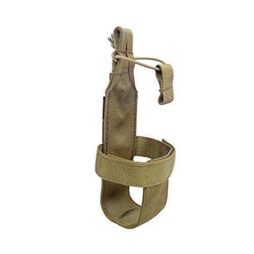 ALTTIMERY Outdoor Nylon Minimalist Tactical Molle Water Bottle Holder Kettle Pouch Belt Bottle Carrier (Khaki)