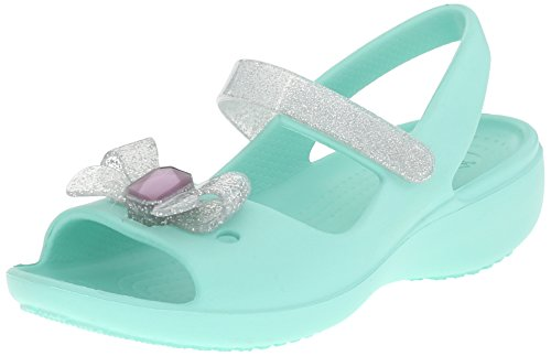 Crocs Keeley Springtime PS Mini Wedge Mary Jane (Toddler/Little Kid), New Mint, 6 M US Toddler