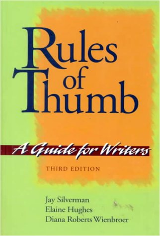 Rules of Thumb: A Guide for Writers