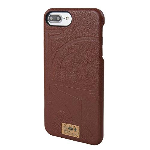Star Wars iPhone 7 Plus Case, Apple iPhone 8 Plus Case [Boba Fett Limited Edition] [HEX - Focus Luxury Series] Premium Leather, Protective Case, 2017 Black Series The Last Jedi (Supreme Edition Boba Fett Costumes)