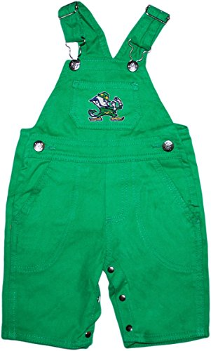 Creative Knitwear University of Notre Dame Fighting Irish Leprechaun Baby Overalls
