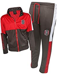 b636fdd8c546d3 Boys 2 Piece Performance Tracksuit Set with Zip-Up Hoodie and Jog Pants
