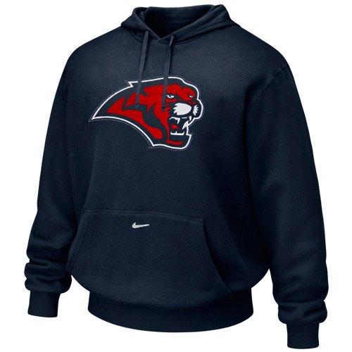 (NIKE Houston Cougars Navy Blue Classic Tackle Twill Hoody Sweatshirt)