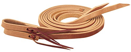 Weaver Leather Single-Ply Heavy Harness Split Rein, Russet, 5/8-Inch x 8-Feet - Single Ply Leather