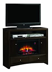 ClassicFlame 26DE9401-W509 Delray Wall or Corner TV Stand for TVs up to 50\