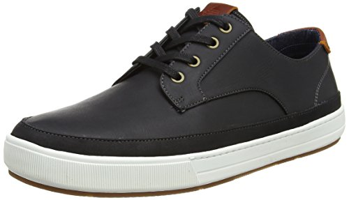 Aldo Porretta, Men Low-Top Sneakers Black (Black Leather)