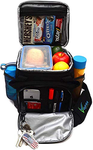 Large Insulated Lunch Bag for Men and Women with Room for More Meals and Snacks. Keeps Food Hot/Cold for 8h. Functional Lunch Box for Adults with More Pockets. Perfect for Your Work Lunches and More ()