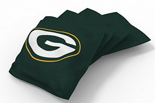 PROLINE 6x6 NFL Green Bay Packers Cornhole Bean Bags - Solid Design (Nfl Bean Bag)