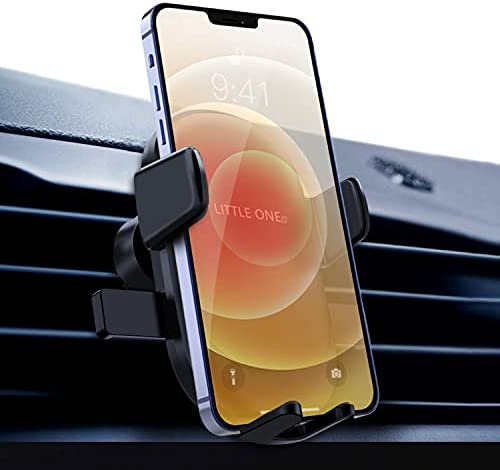Car Phone Mount, 2021 Upgraded Phone Holder for Car with Air Vent Mount Zero Noise Car Phone Holder Air Vent Clip Hands-Free Gravity Cell Phone Holder Cell Phone Cradles Suit for 4.7″-6.7″