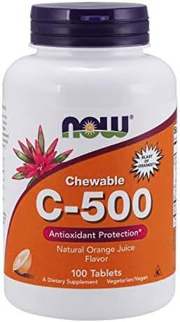 Now Supplements, Vitamin C-500, Orange, 100 Chewable Lozenges