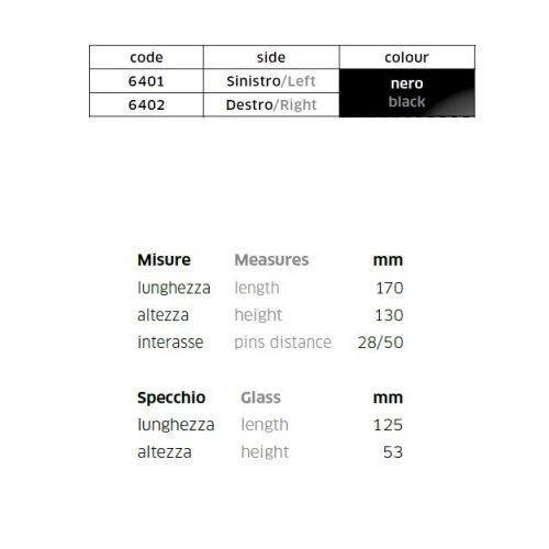COMPATIBILE CON YAMAHA YZF R6 COPPIA DI SPECCHIETTI DA CARENA PER MOTO RETROVISORE FAR NERO SPECCHIO 6401+6402+KIT MONTAGGIO M.6 INCLUSO SPECCHI SPORTIVI
