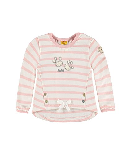 Steiff Collection Mädchen Sweatshirt Sweatshirt 1/1 Arm, Gr. 62, Rosa (peach skin 2058)