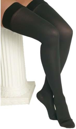 ITA-MED Microfiber Knee Highs - Compression (25-35 mmHg): H-306, Black, X-Large