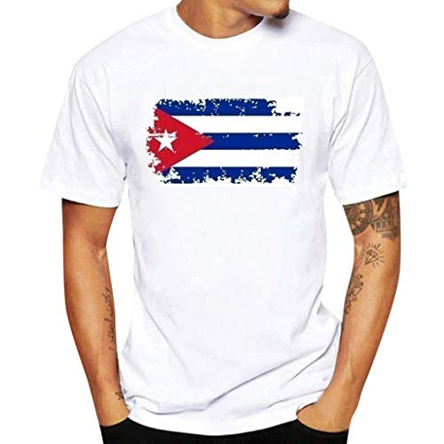 Patriotic Short Sleeve T Shirt For Men Boys,Toponly Summer Athletic O Neck American Flag Print Tees Muscle Sports Tops Pullover