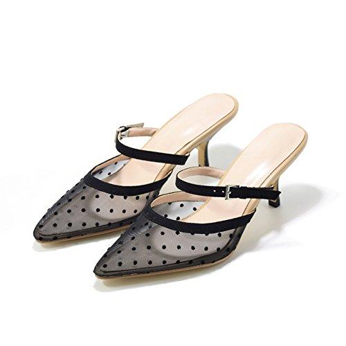 Jacobs Pantofole Sottolineato E Alto Nero Ha Qingchunhuangtang Le Tacco Pantofole gPdgqp
